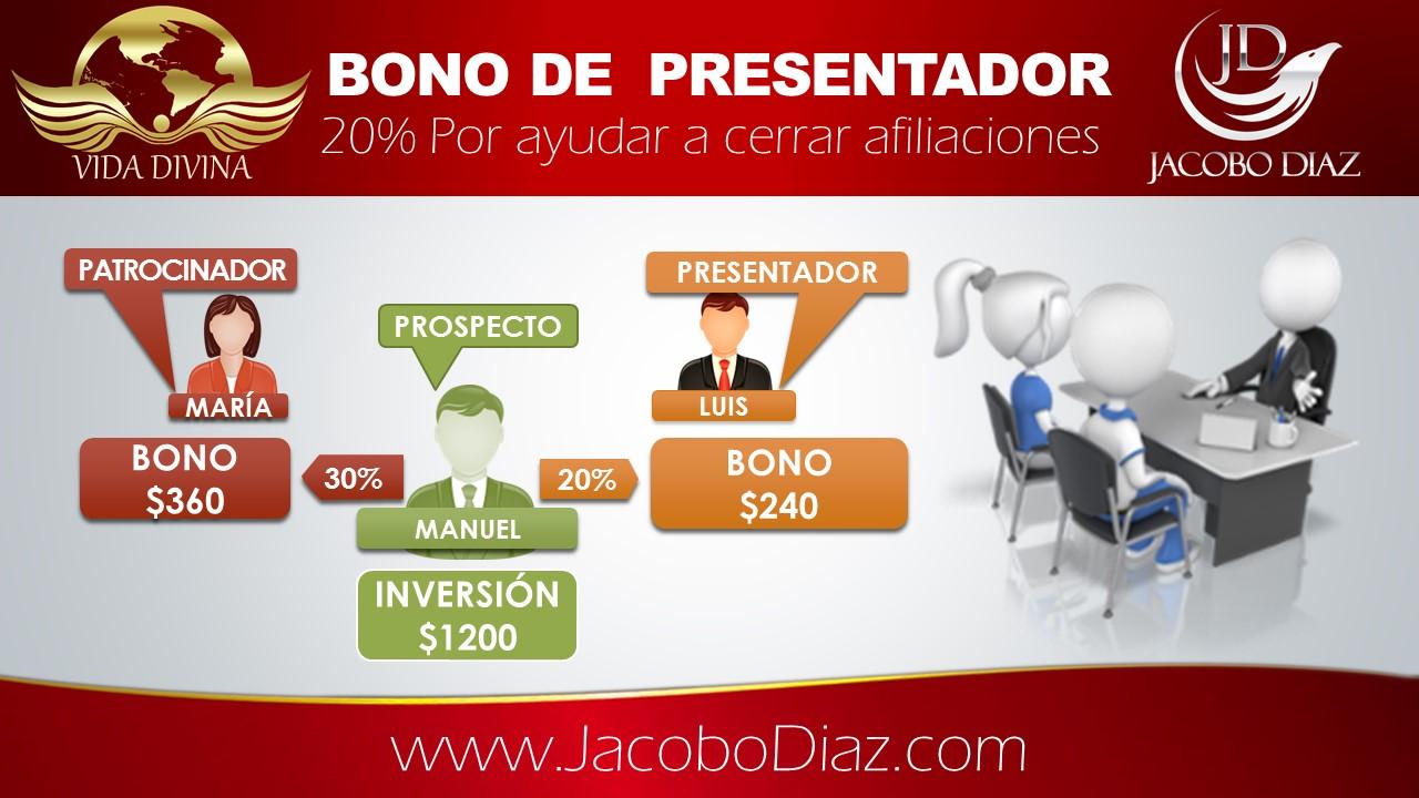 Bono de presentador 20%