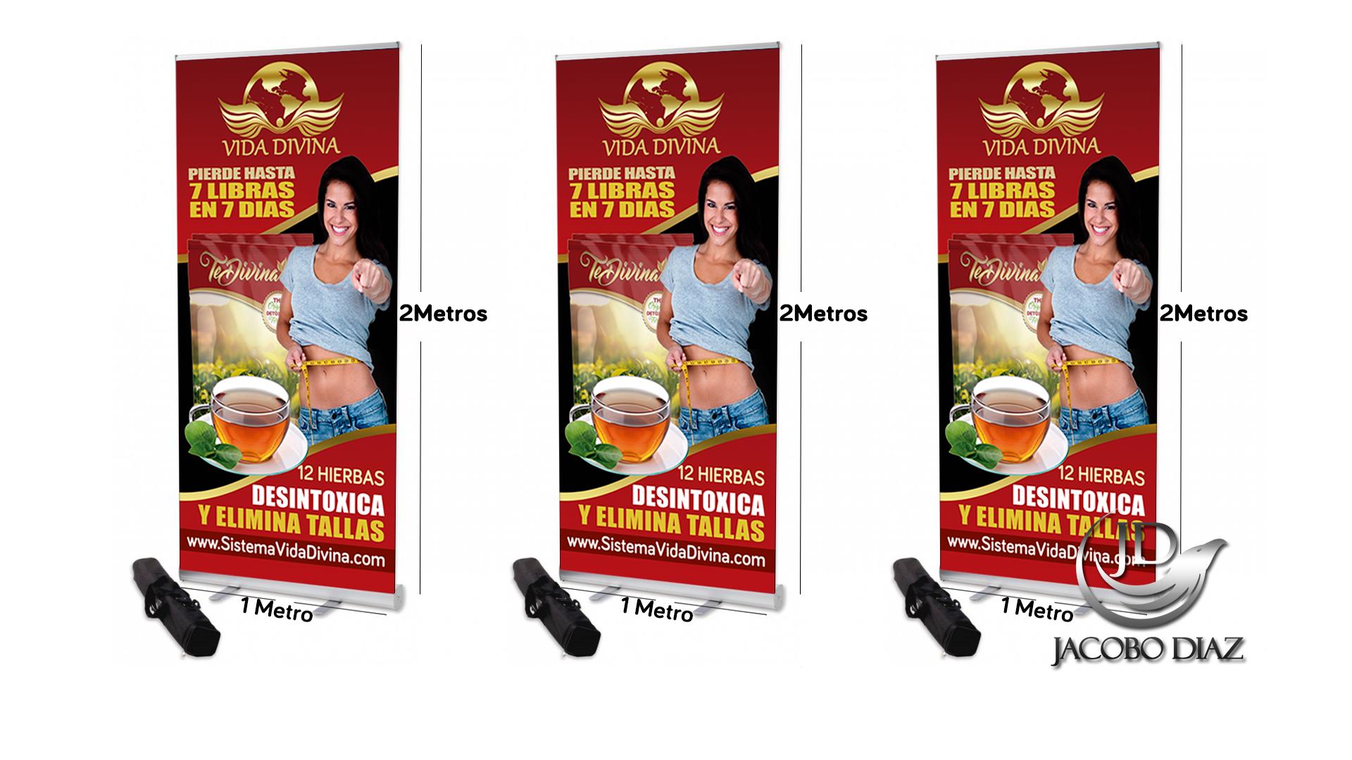 """""""Banner de Té Divina"""" de 1×2 Metros -Recursos Vida Divina"""