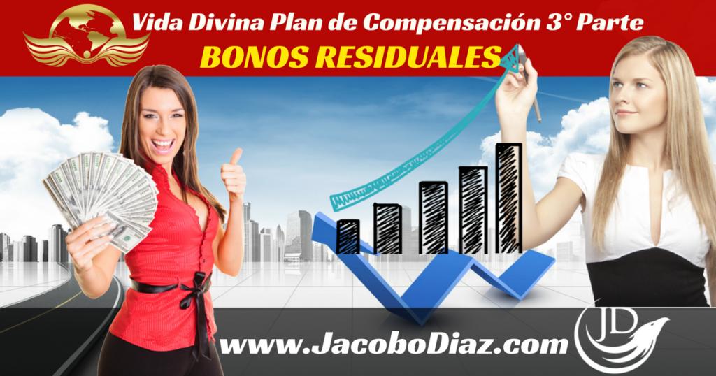 Vida Divina Plan de Compensacion 3ra parte, bonos residuales